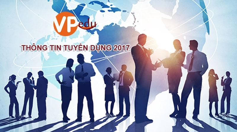 Thông tin tuyển dụng 2017 - Du học VPEdu