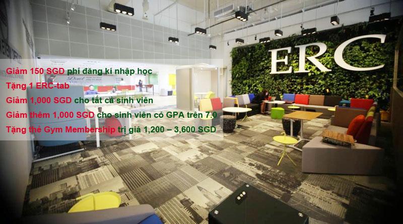Ưu đãi du học Singapore tại Học viện ERC