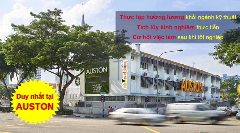 Du học Singapore thực tập hưởng lương khối ngành kỹ thuật tại Học viện quản lý Ausotn