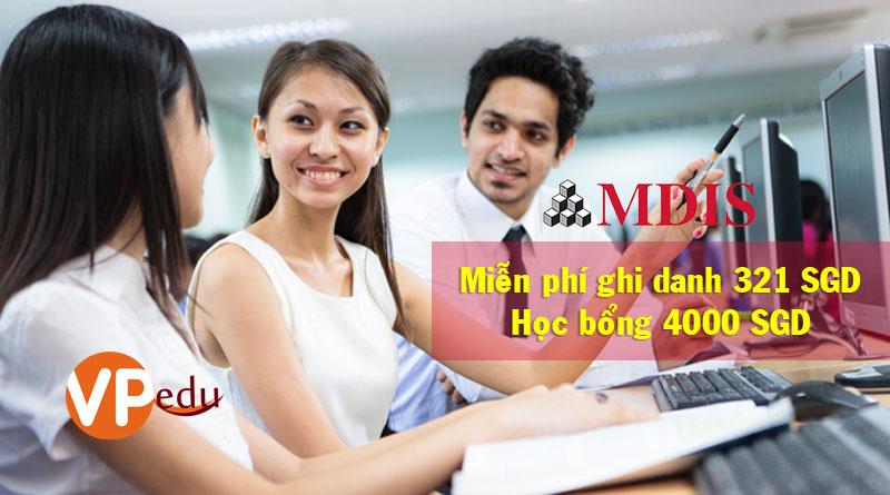 Miễn phí phí đăng ký tại Học viện phát triển quản lý Singapore MDIS