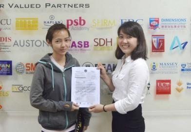 Chúc mừng bạn Kim Cương đạt visa du học Singapore
