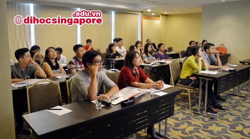 Toàn cảnh hội thảo du học Singapore tại Học viện MDIS tại Hồ Chí Minh
