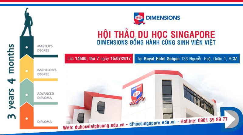 Hội thảo du học Singapore - Dimensions đồng hành cùng sinh viên Việt